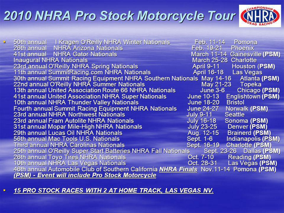 2010 NHRA Pro Stock Motorcycle Tour