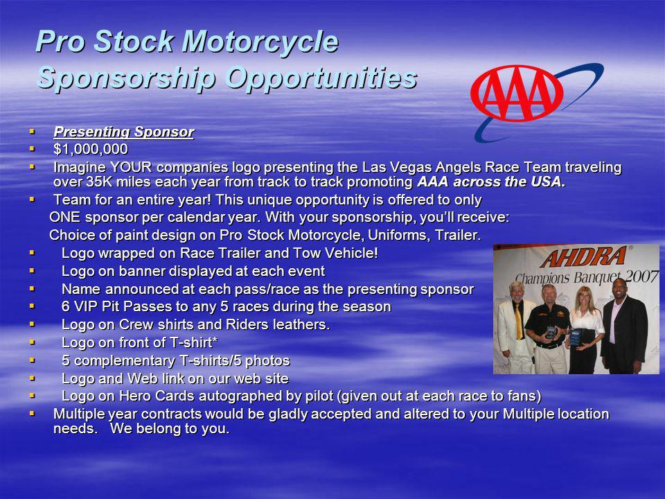 Pro Stock Motorcycle Sponsorship Opportunities