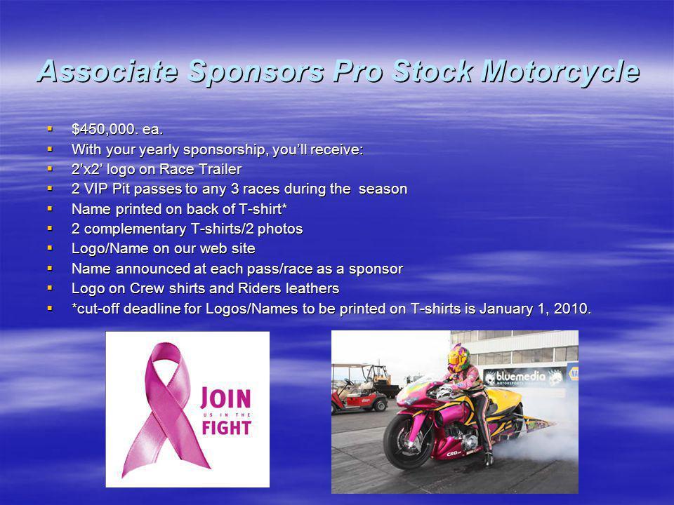 Associate Sponsors Pro Stock Motorcycle