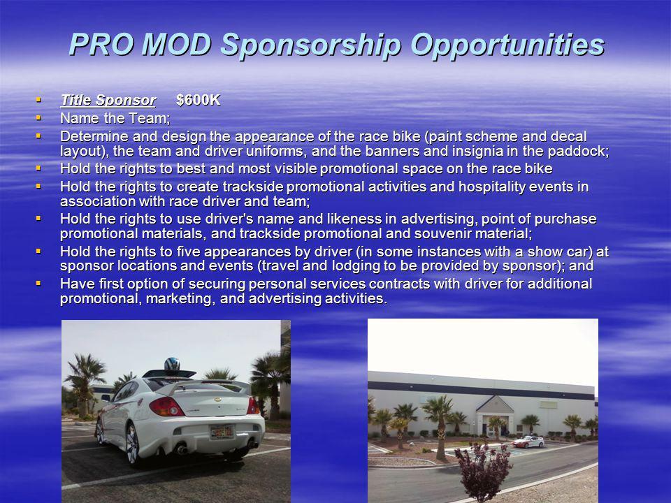 PRO MOD Sponsorship Opportunities