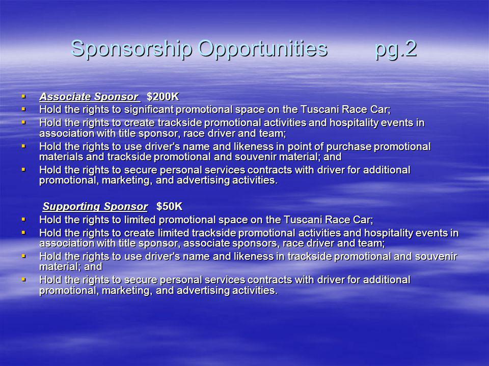 Sponsorship Opportunities pg.2