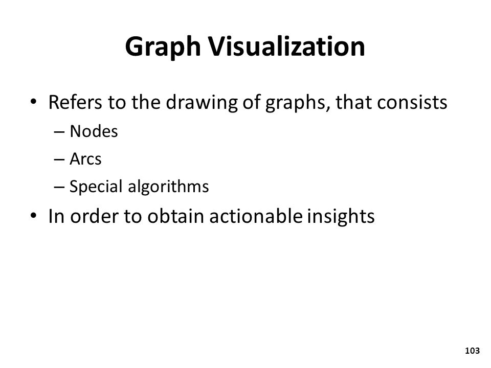 Graph Visualization Refers to the drawing of graphs, that consists