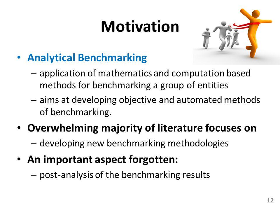 Motivation Analytical Benchmarking