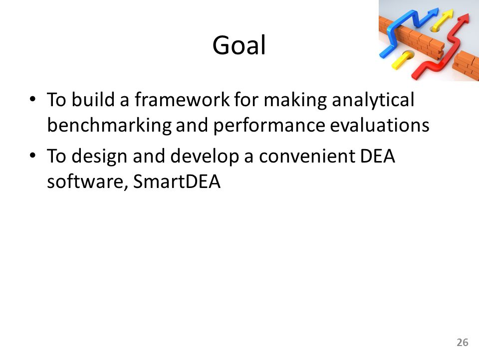 Goal To build a framework for making analytical benchmarking and performance evaluations.