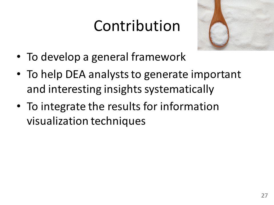 Contribution To develop a general framework