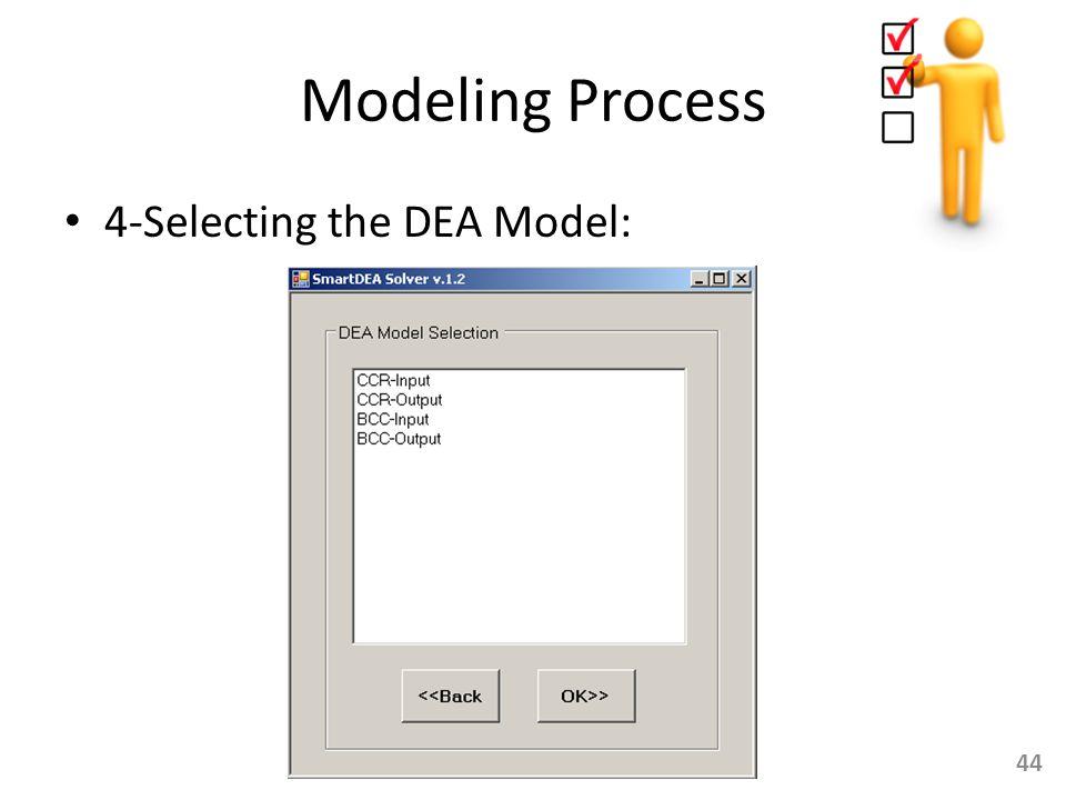 Modeling Process 4-Selecting the DEA Model: