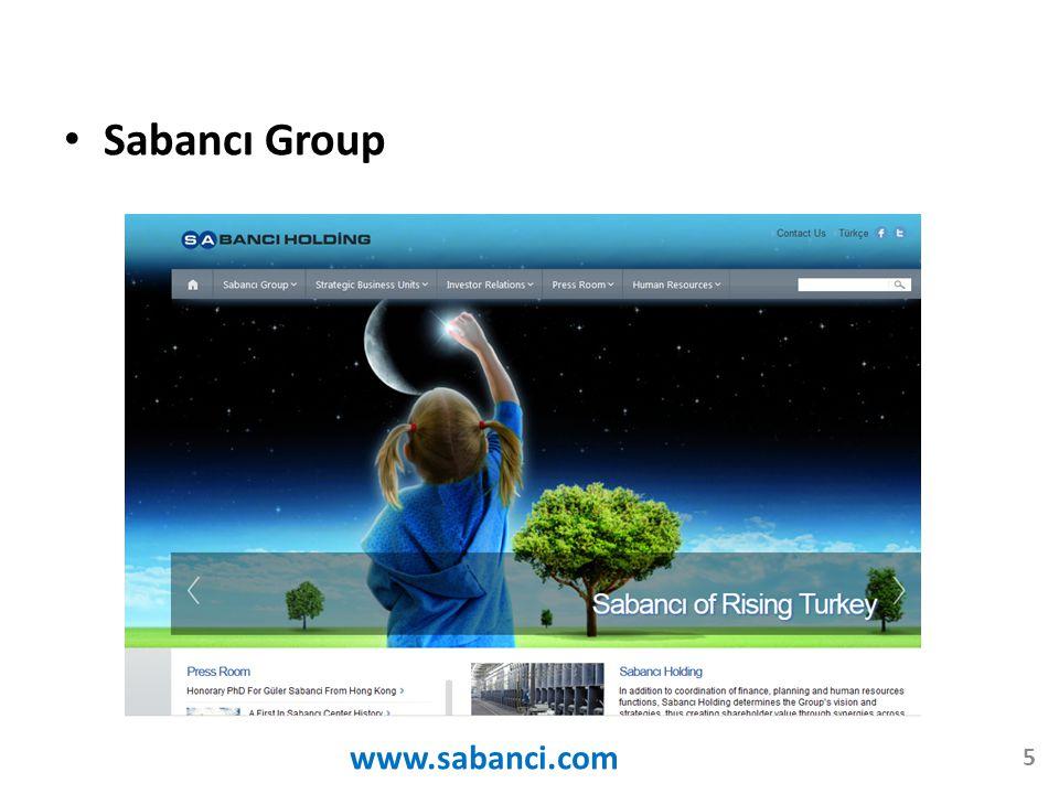 Sabancı Group www.sabanci.com