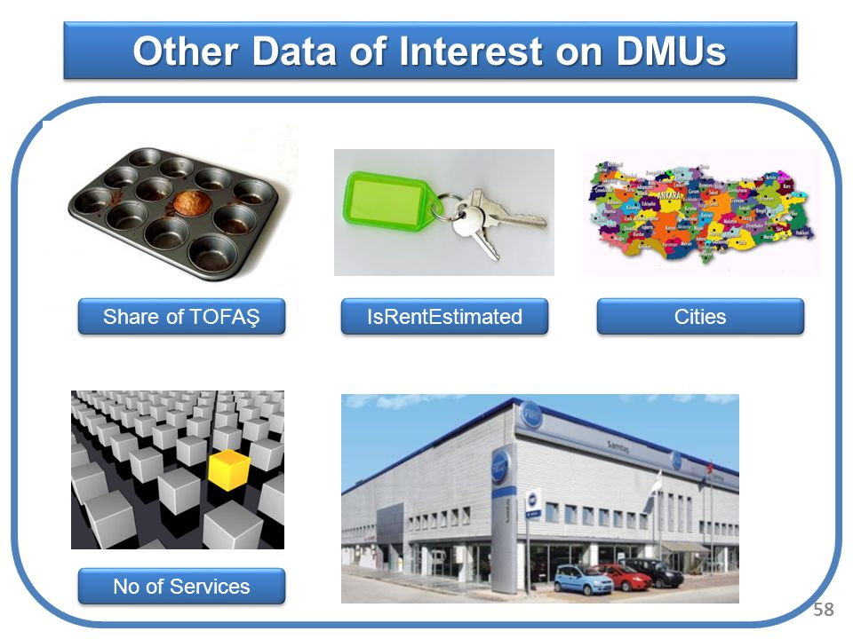 Other Data of Interest on DMUs