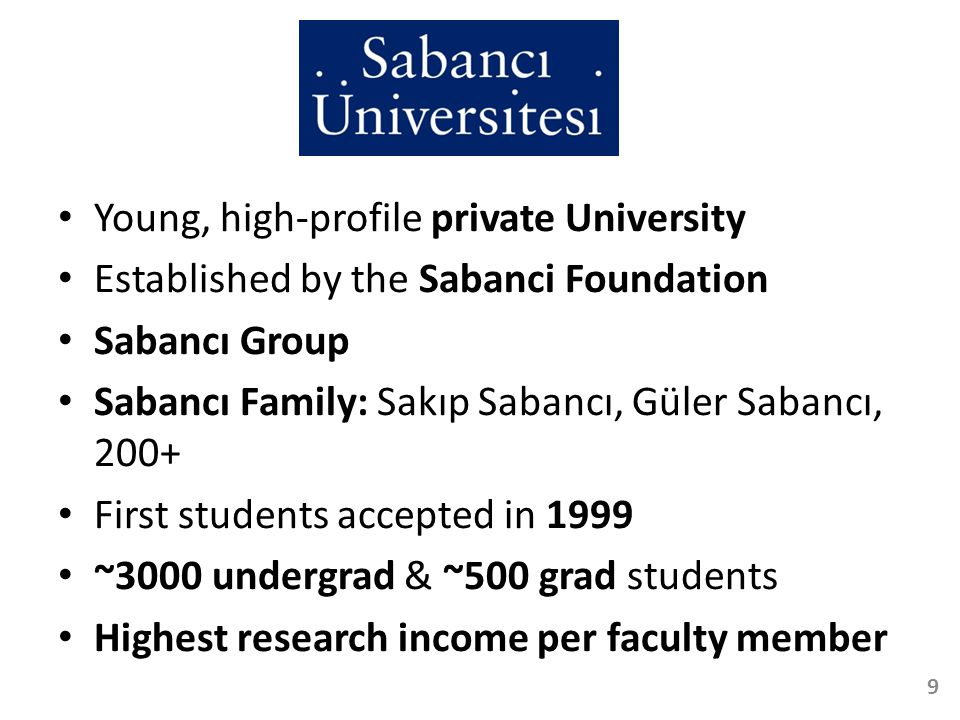 Young, high-profile private University