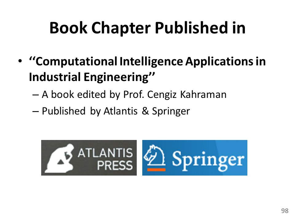Book Chapter Published in