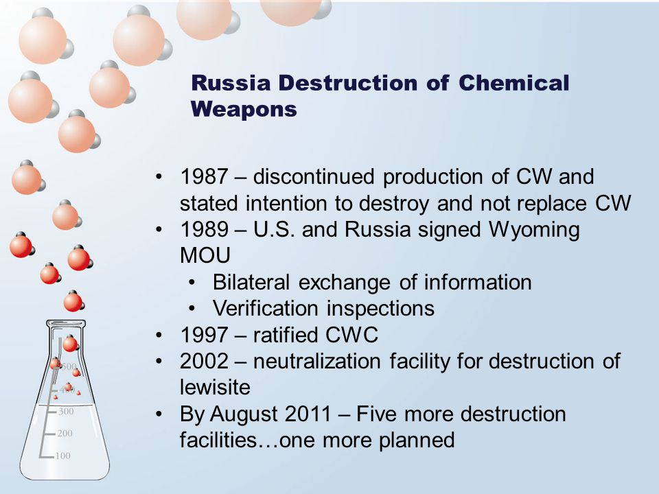 Russia Destruction of Chemical Weapons
