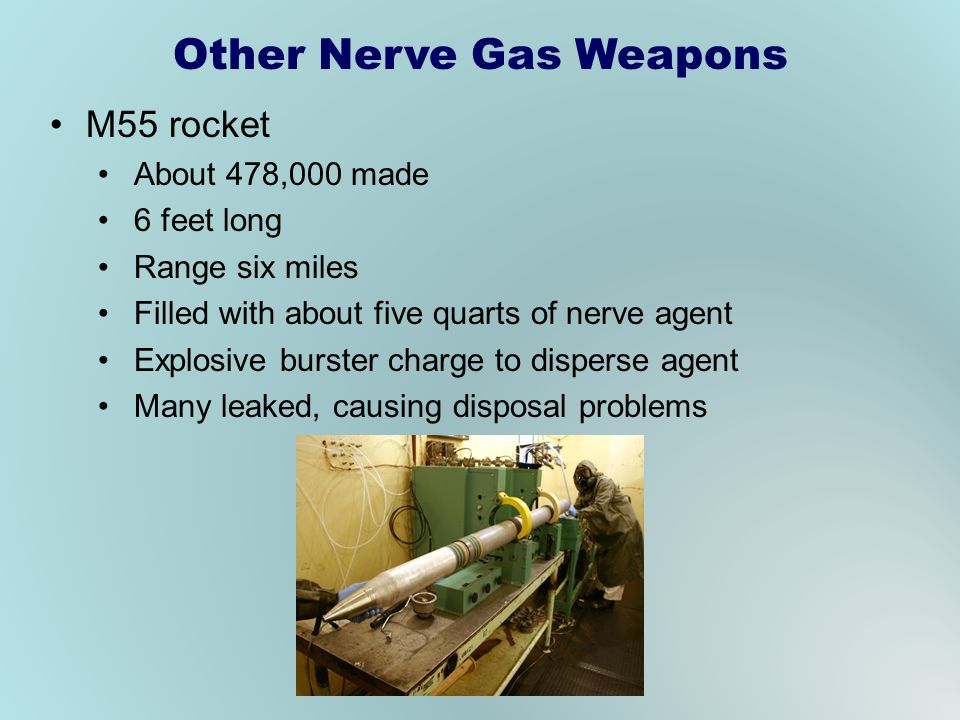 Other Nerve Gas Weapons
