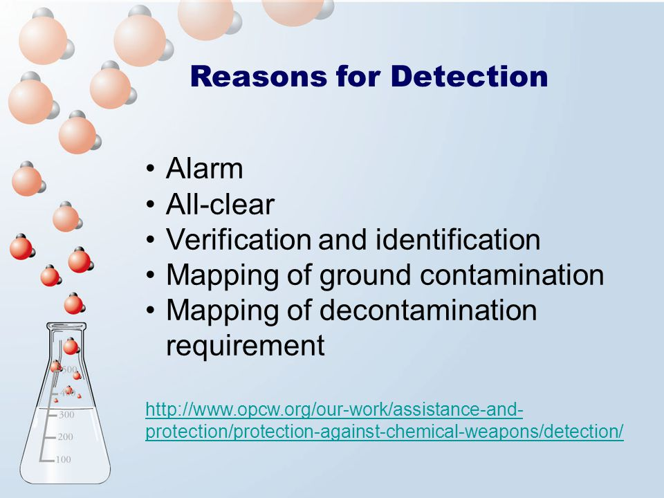Verification and identification Mapping of ground contamination