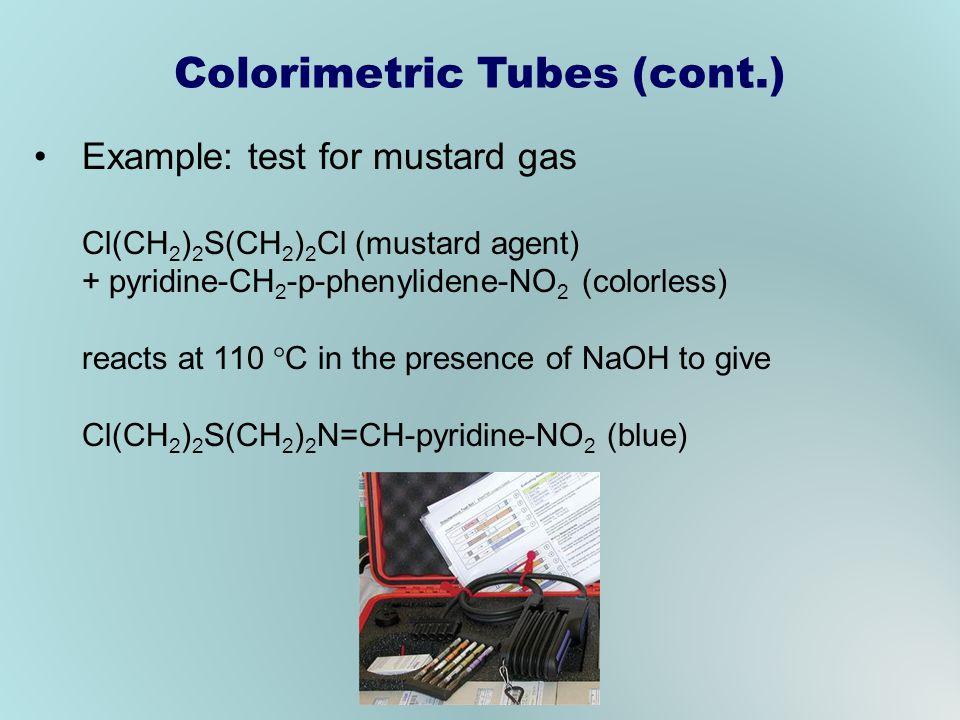 Colorimetric Tubes (cont.)