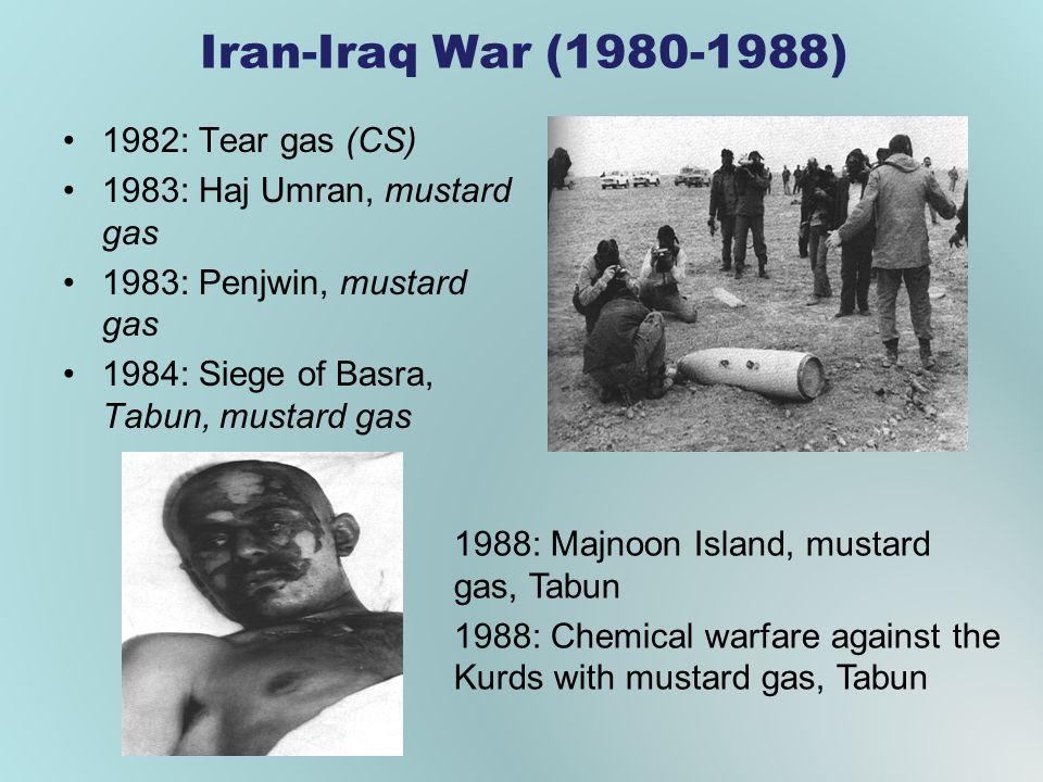 Iran-Iraq War (1980-1988) 1982: Tear gas (CS)