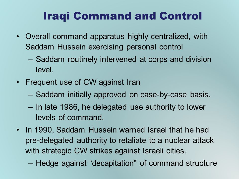 Iraqi Command and Control