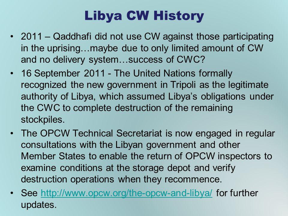 Libya CW History