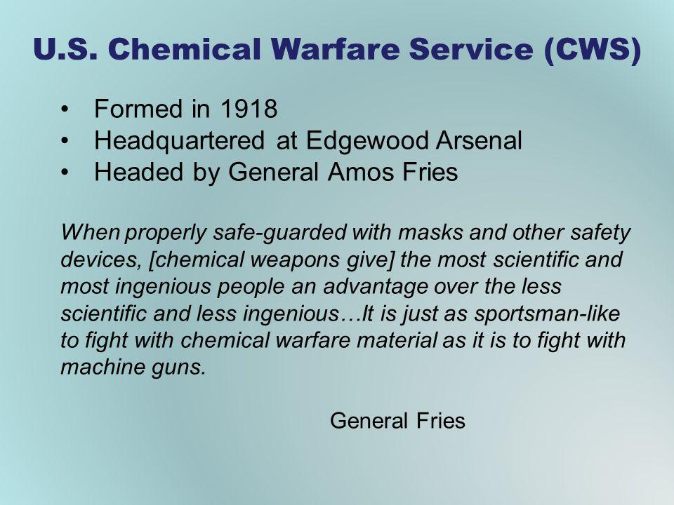 U.S. Chemical Warfare Service (CWS)