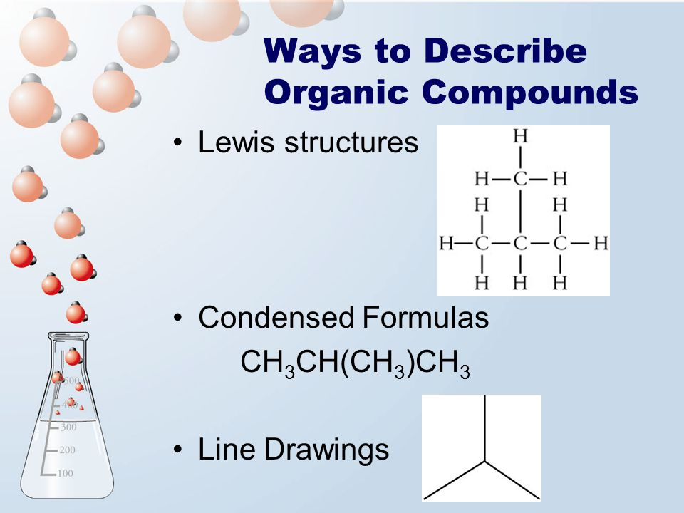 Ways to Describe Organic Compounds