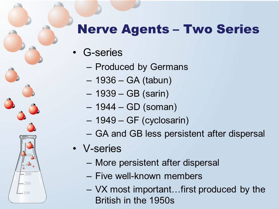 Nerve Agents – Two Series