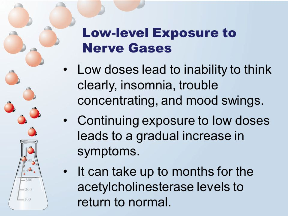 Low-level Exposure to Nerve Gases