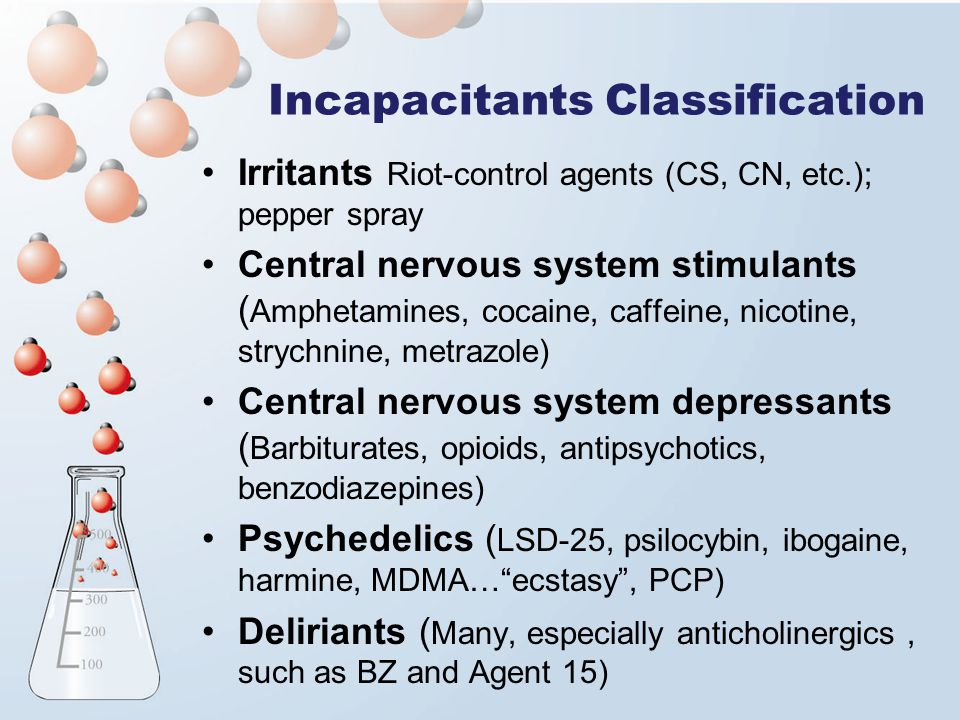 Incapacitants Classification