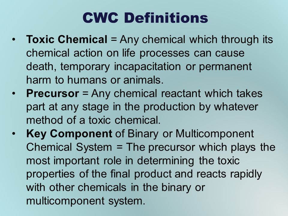 CWC Definitions