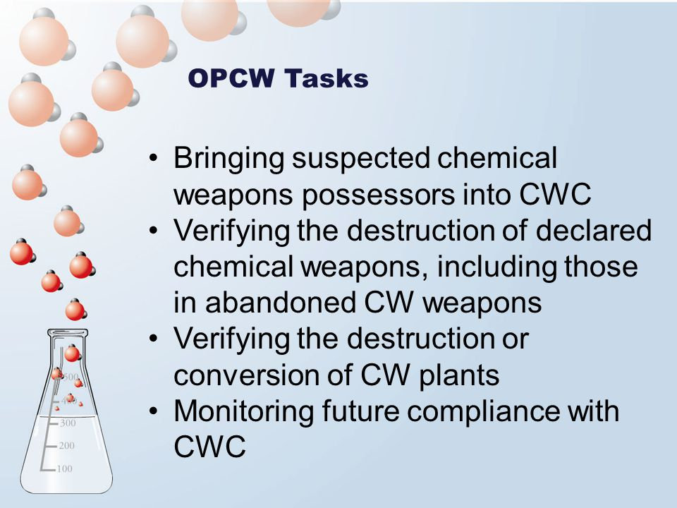 Bringing suspected chemical weapons possessors into CWC