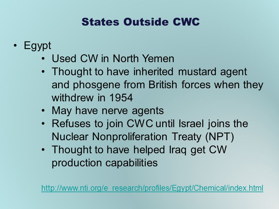 Thought to have helped Iraq get CW production capabilities