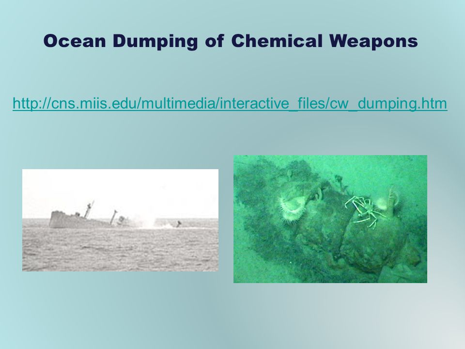 Ocean Dumping of Chemical Weapons