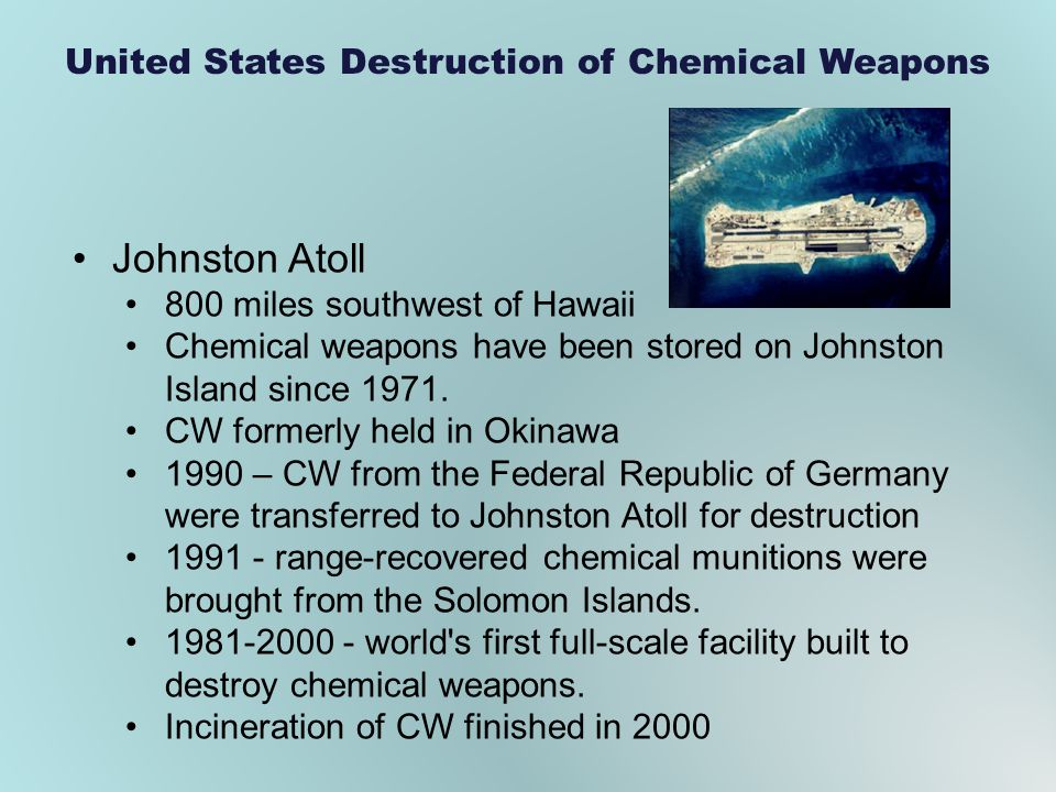 United States Destruction of Chemical Weapons