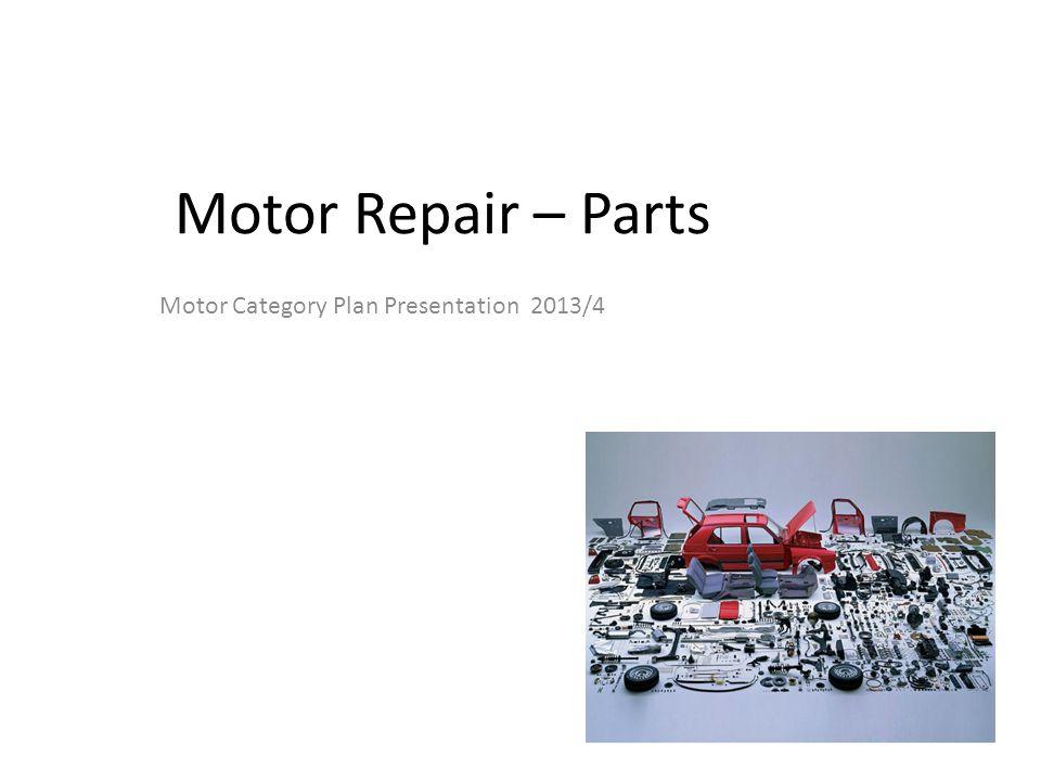 Motor Category Plan Presentation 2013/4