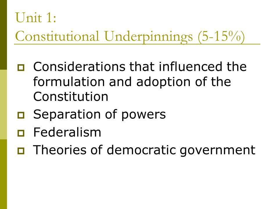 Unit 1: Constitutional Underpinnings (5-15%)