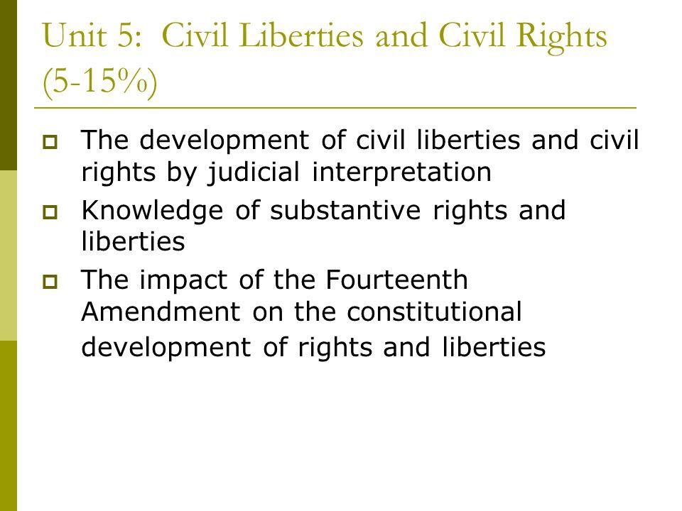 Unit 5: Civil Liberties and Civil Rights (5-15%)