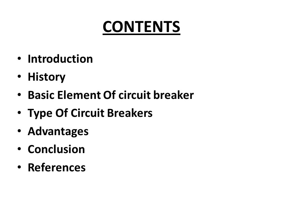 basics of circuit breakers pdf