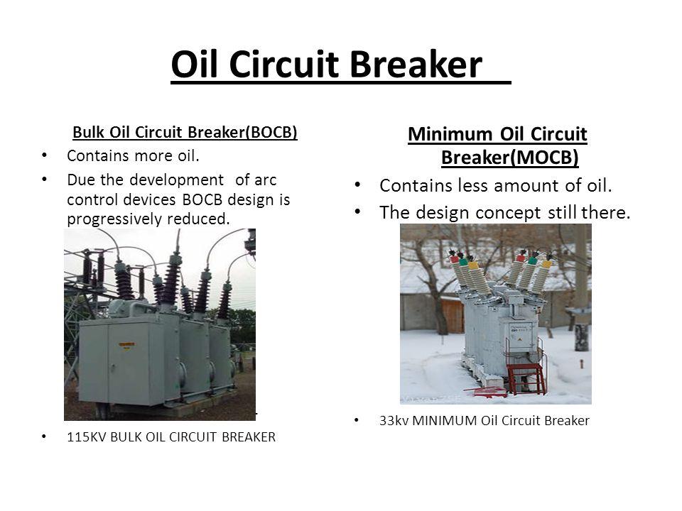 Bulk Oil Circuit Breaker(BOCB) Minimum Oil Circuit Breaker(MOCB)