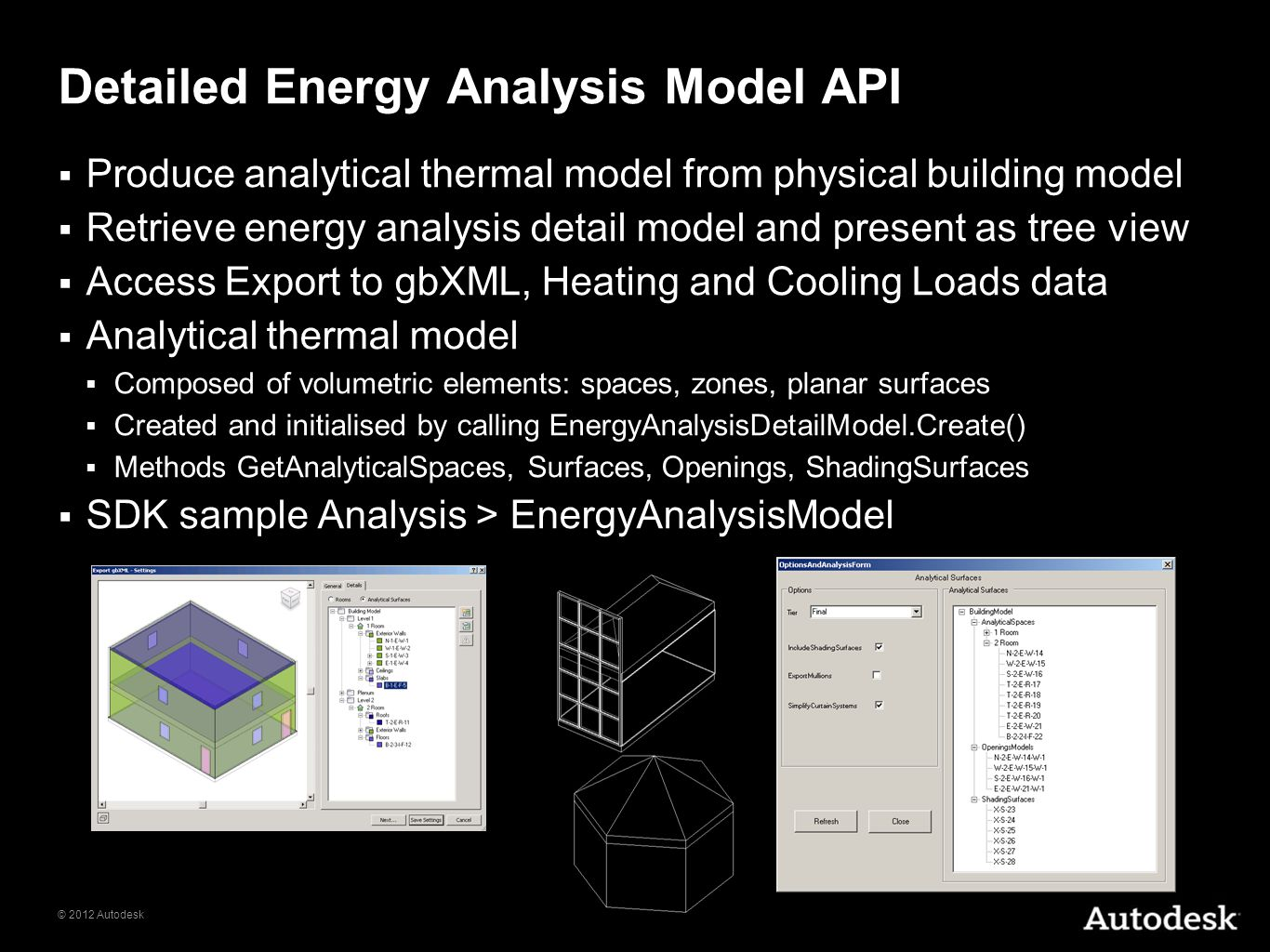 Detailed Energy Analysis Model API