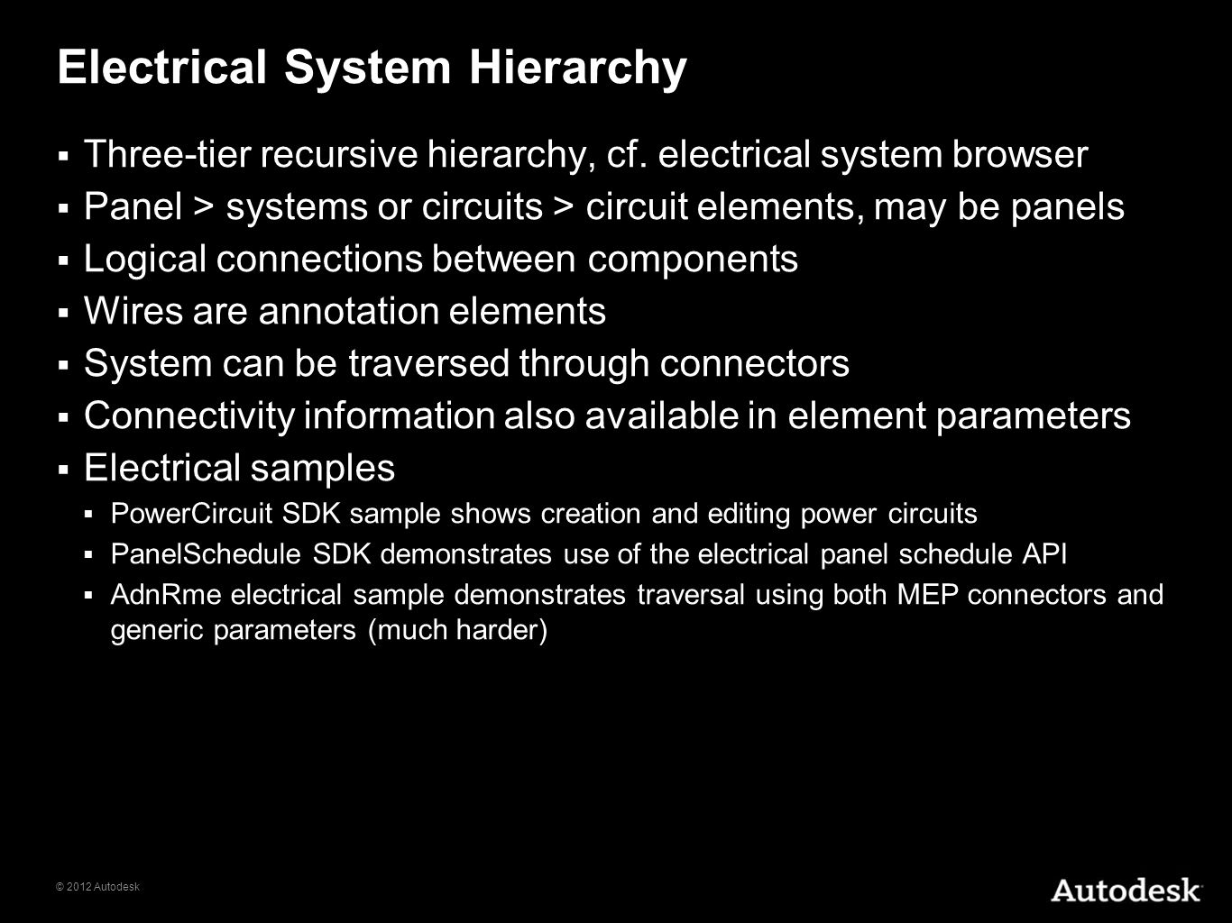 Electrical System Hierarchy