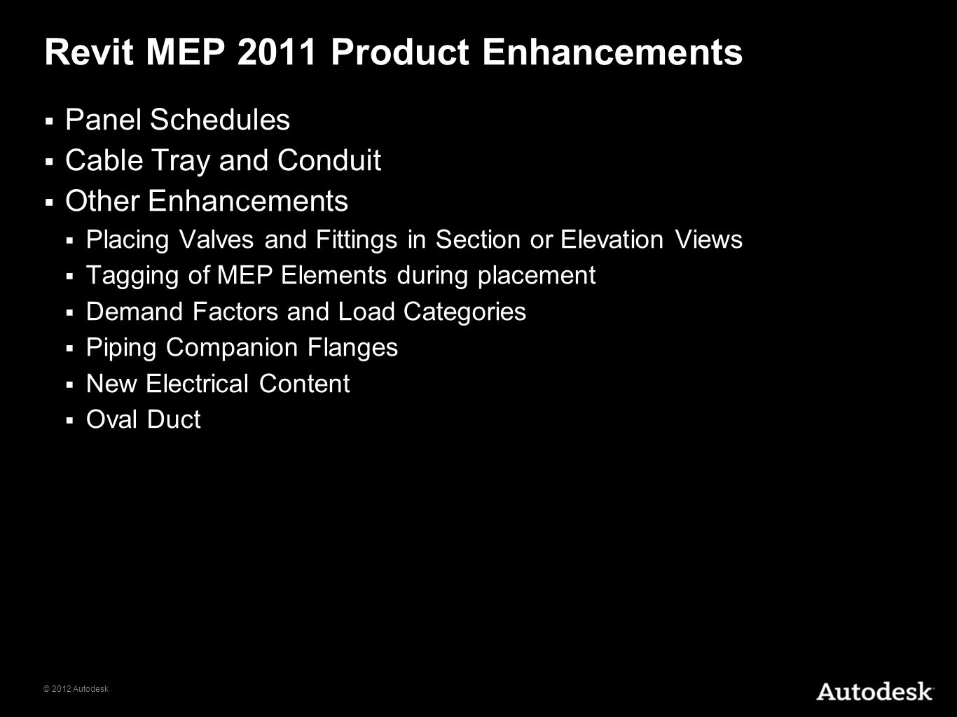 Revit MEP 2011 Product Enhancements