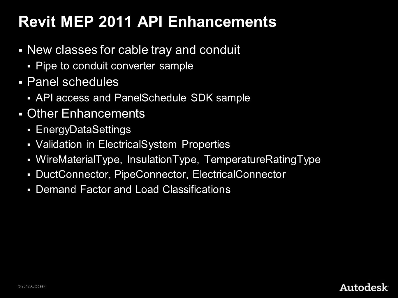Revit MEP 2011 API Enhancements
