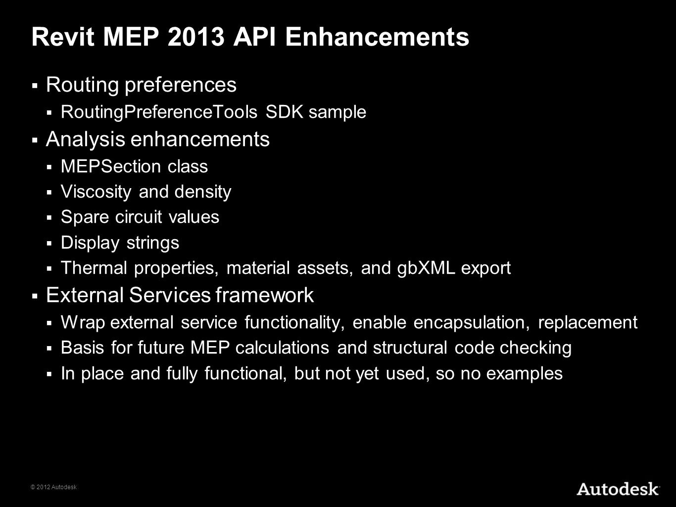 Revit MEP 2013 API Enhancements