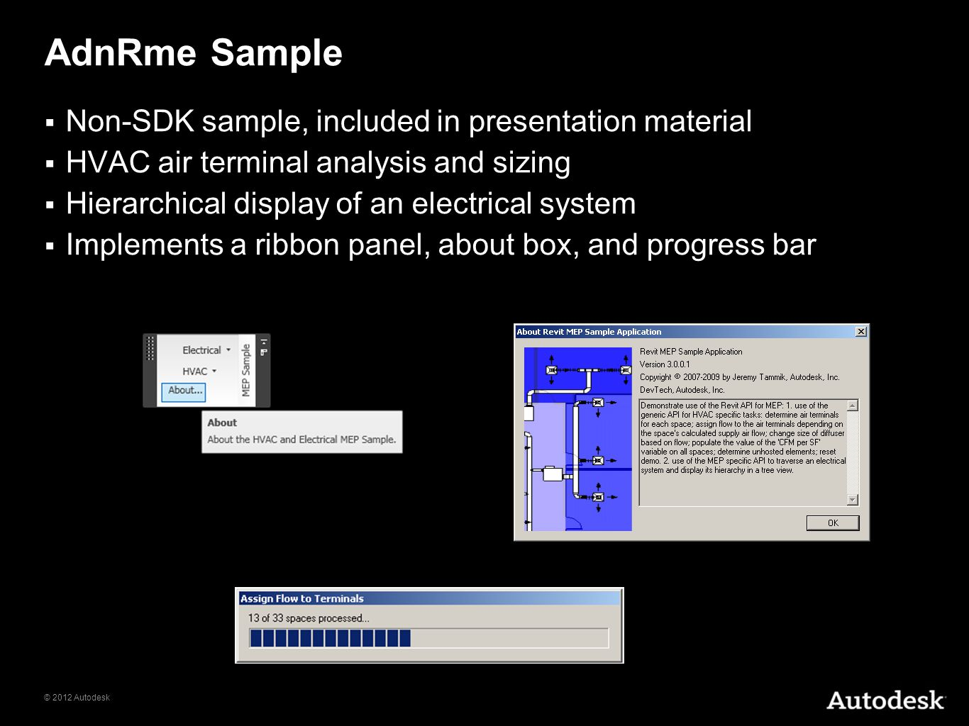AdnRme Sample Non-SDK sample, included in presentation material