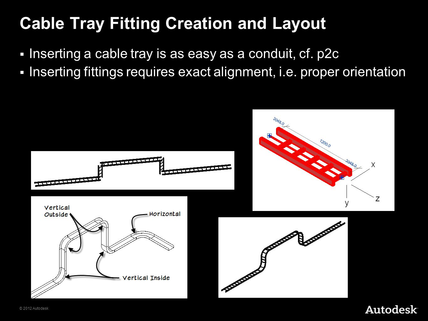 Cable Tray Fitting Creation and Layout
