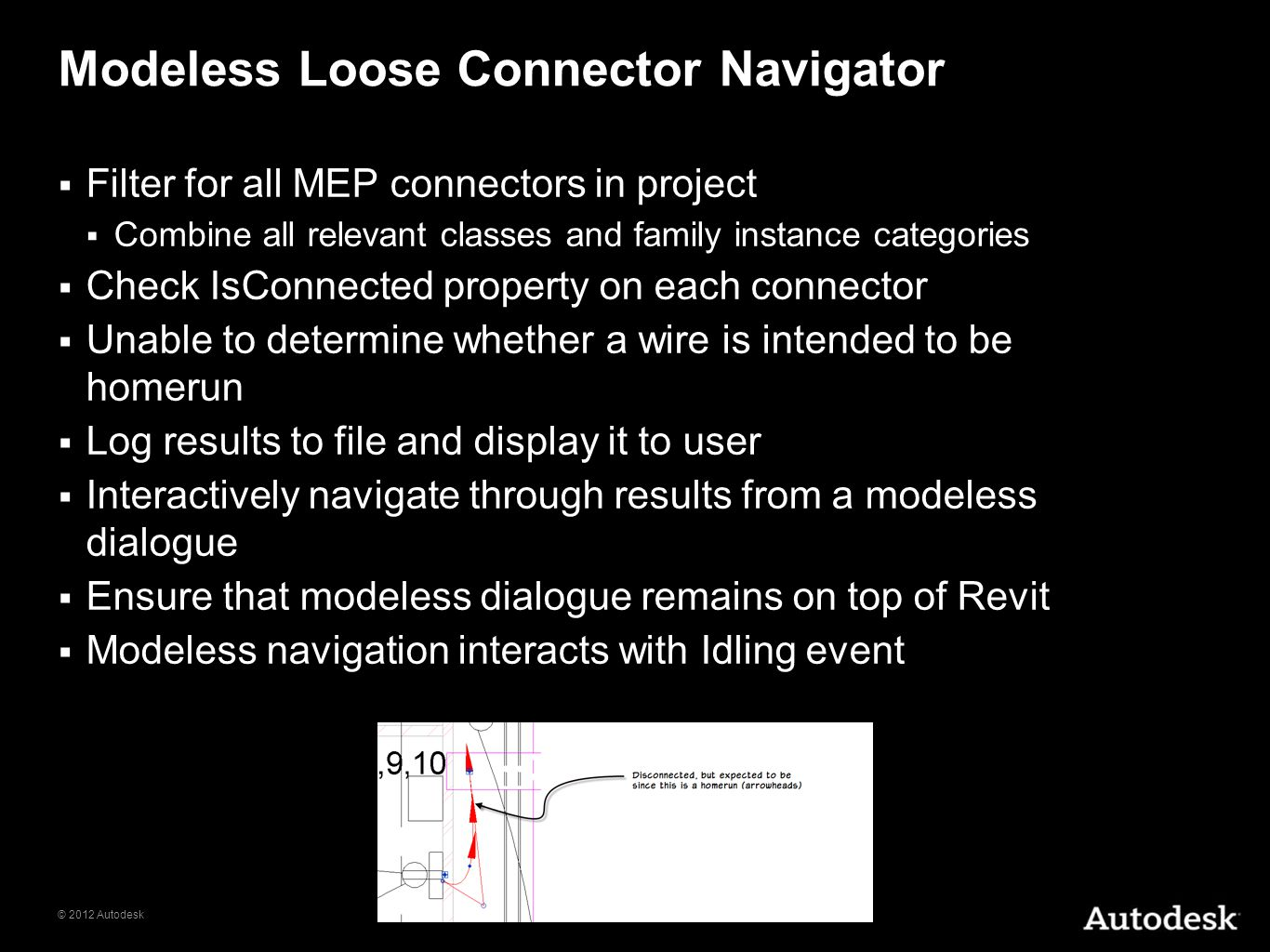 Modeless Loose Connector Navigator