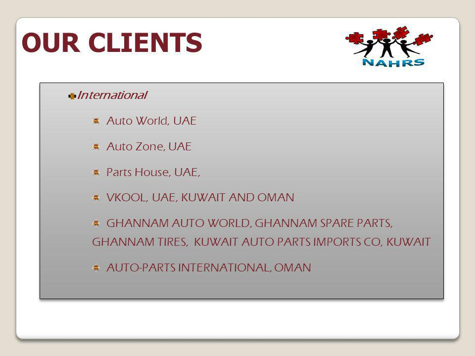 OUR CLIENTS International Auto World, UAE Auto Zone, UAE