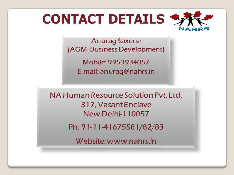 CONTACT DETAILS NA Human Resource Solution Pvt. Ltd.