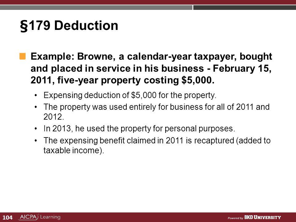§179 Deduction