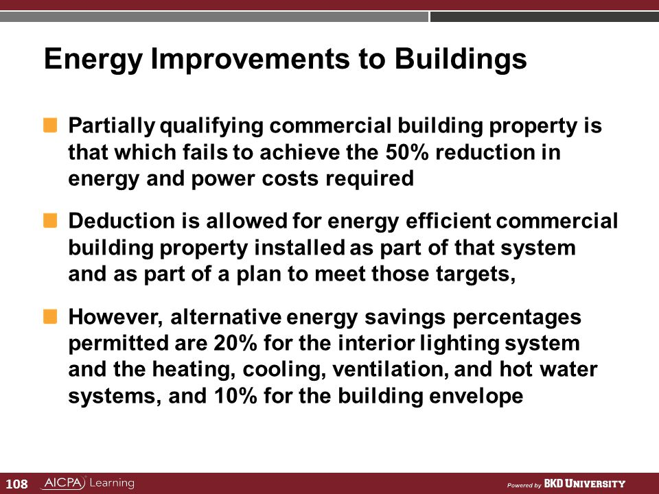 Energy Improvements to Buildings