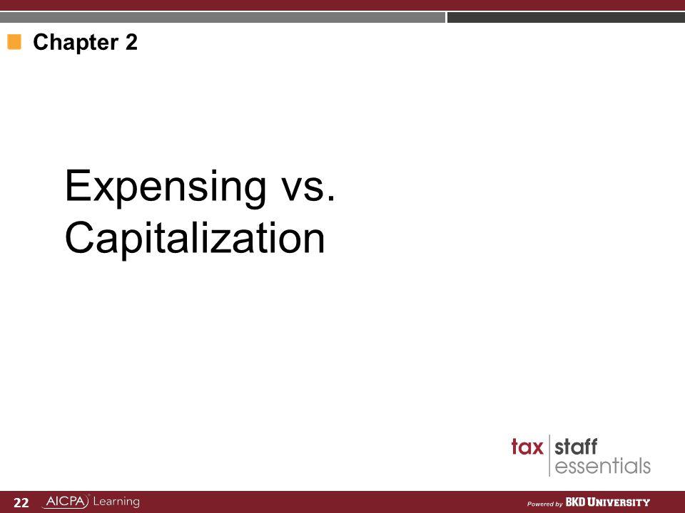 Expensing vs. Capitalization