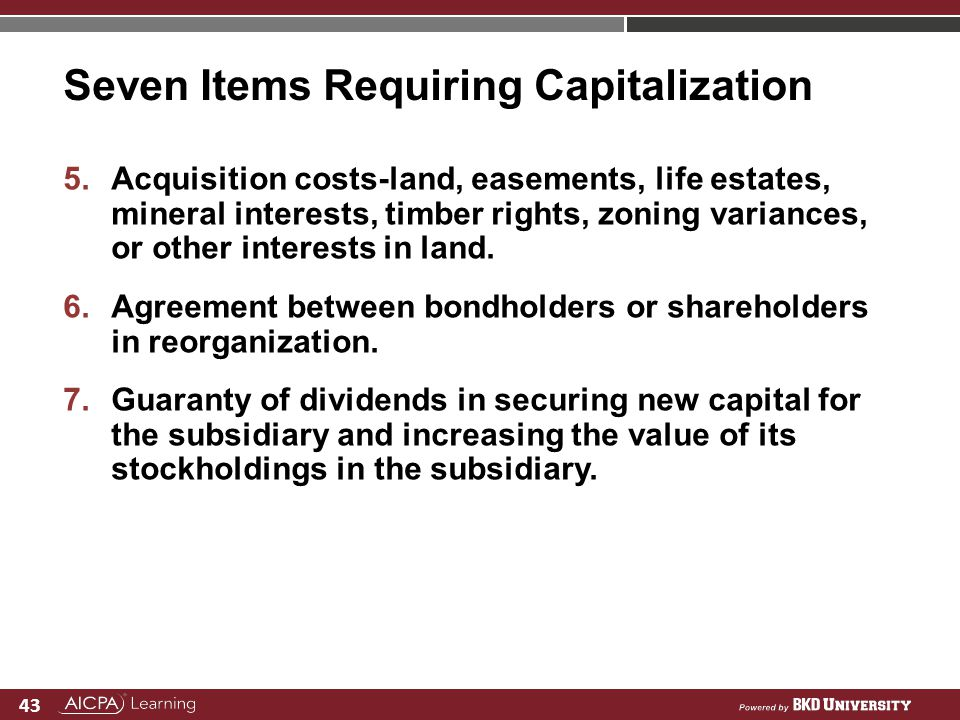 Seven Items Requiring Capitalization
